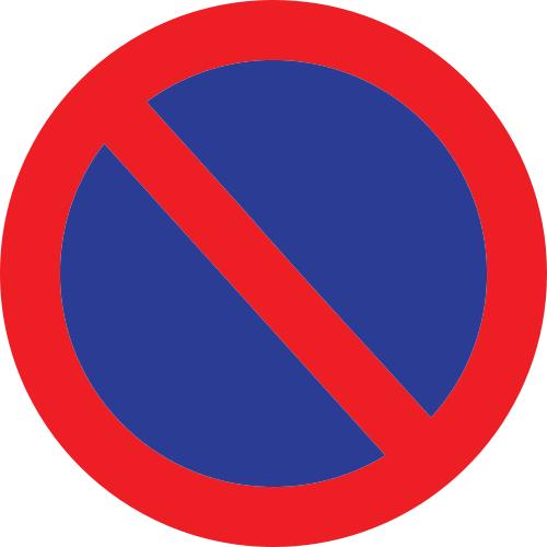 Señal vertical reglamentaria de estacionamiento prohibido