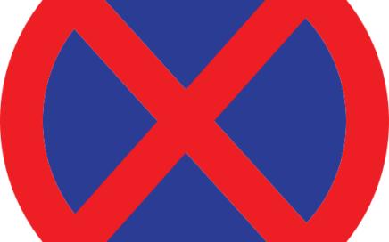 Señal vertical reglamentaria de parada y estacionamiento prohibido