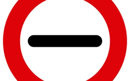 Señal vertical reglamentaria de prohibición de pasar sin detenerse